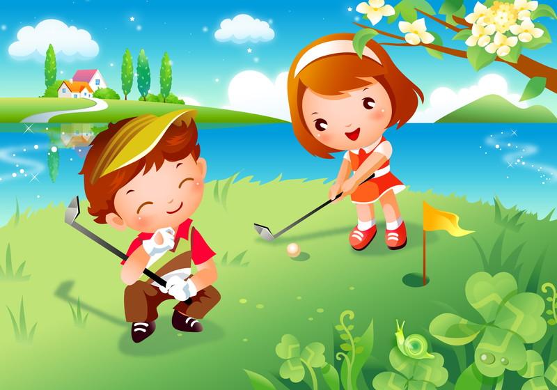 カップルでゴルフ
